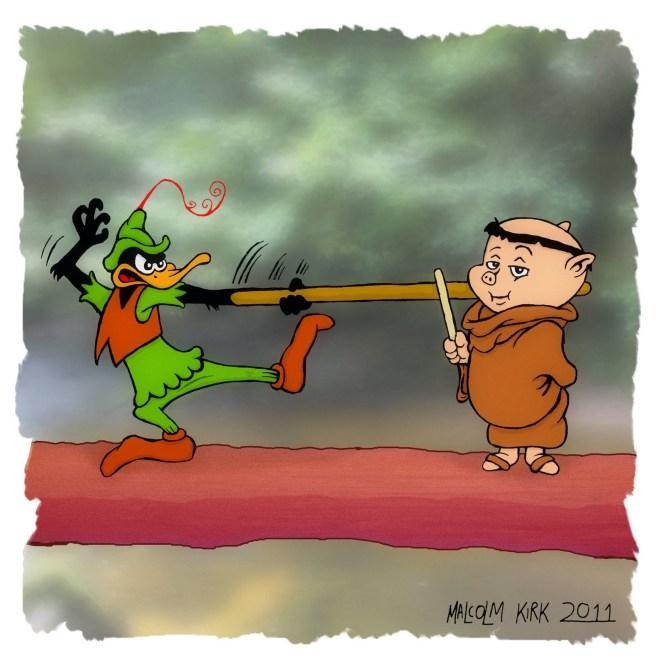 Robin Hood Daffy & Friar Porky